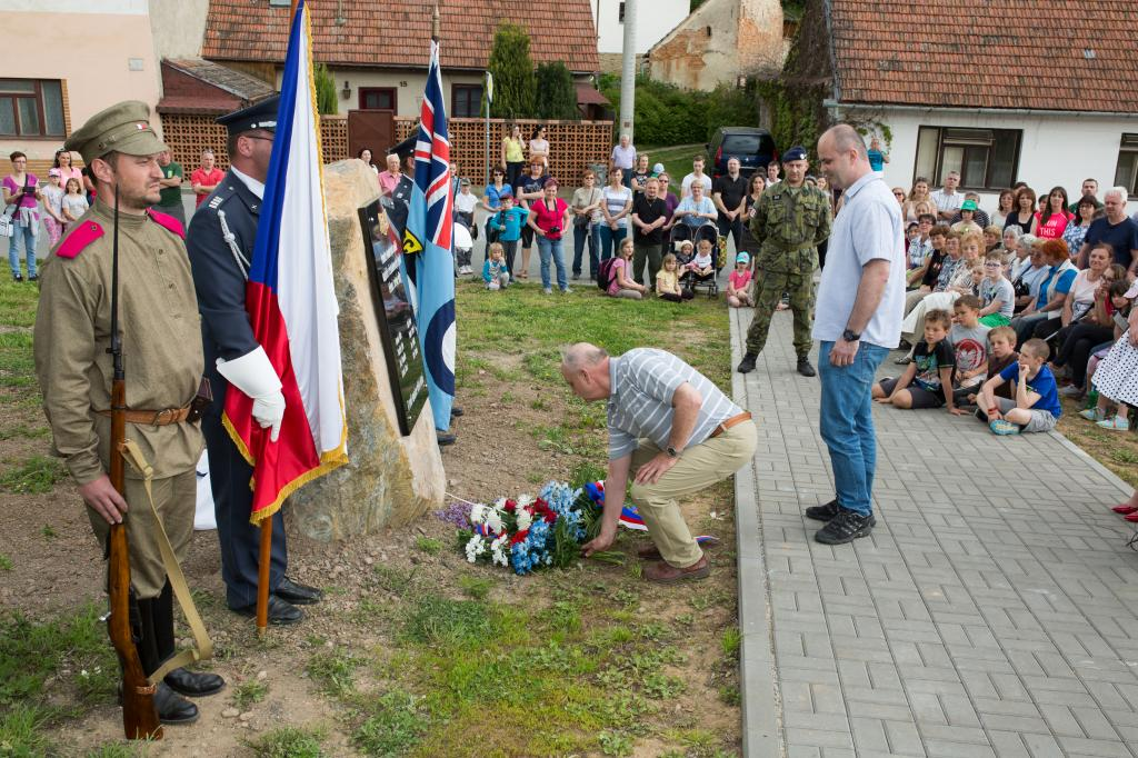 Odhalení pomníku hvozdeckým legionářům - květen 2017