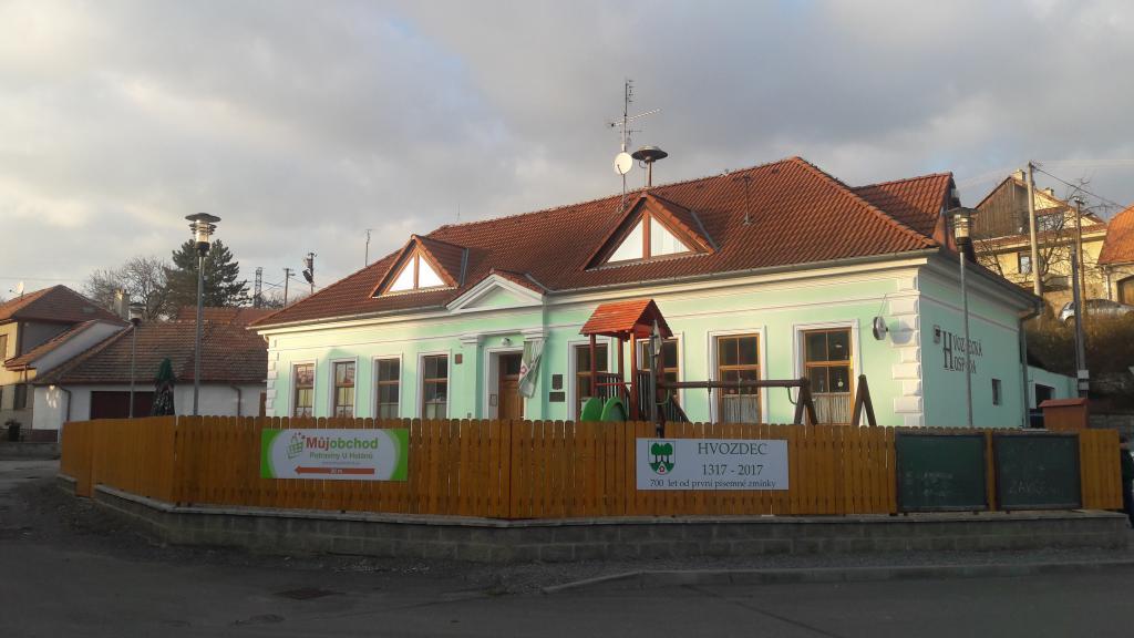 Budova Obecního úřadu - hospoda umístěna v přízemí